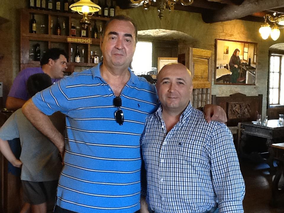 con Luís Fernández en el Palacio de Canedo. Canedo, Ponferrada (El Bierzo)